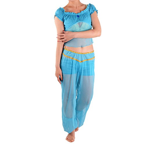Princess Jasmine Costume Adults Aladdin's Cosplay Belly Dance Dress