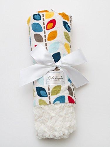 Leaf/Ivory Tile Baby Blanket