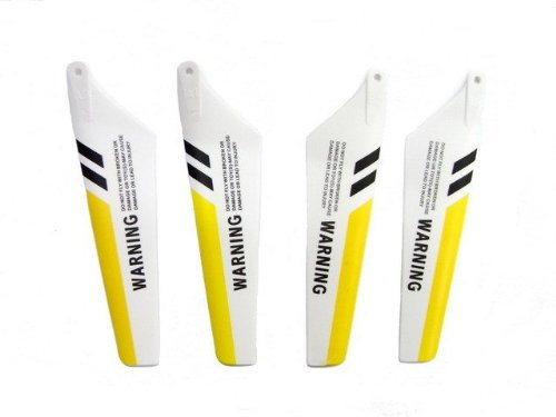 4 Sets of Yellow Syma Replacement Rotor Blades for S107 (16 Blades in All) S107-02