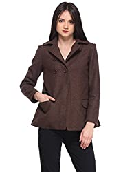 Brown Pleated Overcoat