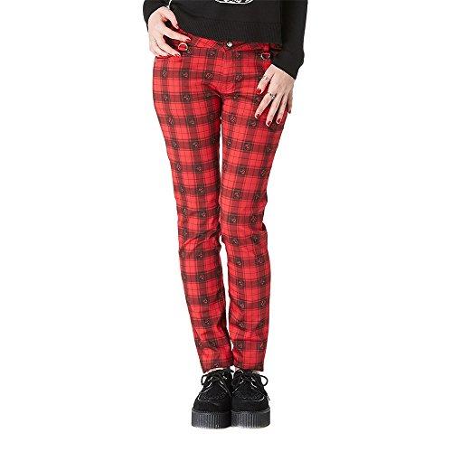 Jawbreaker _Red Tartan motivo Jeans Skinny Bondage rosso medium