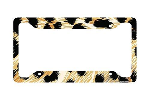 Airstrike® Cheetah License Plate Frame, Cheetah Car Tag Frame, Cheetah License Plate Holder, Cute Cheetah Print License Plate Frame-30-272 (License Plate Frame Cheetah Print compare prices)