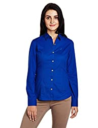 Nautica Women's Body Blouse Shirt (NT519W102H40P_Deep Ultra Marine_M)