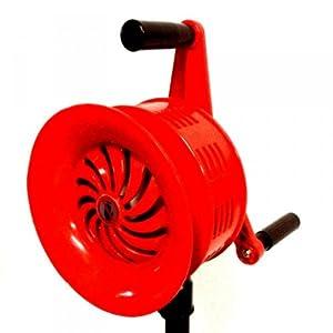 Manuelle Sirene auf Stativ  118 dB  5 kg  ALU  Alarm THW Feuerwehr ROT  BaumarktÜberprüfung und Beschreibung