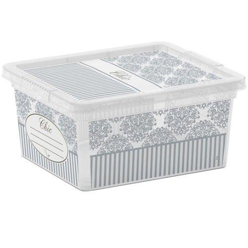 Kis 8409000 2040 Classy Style 01 C Box-Scatola portaoggetti, in plastica, 18 L