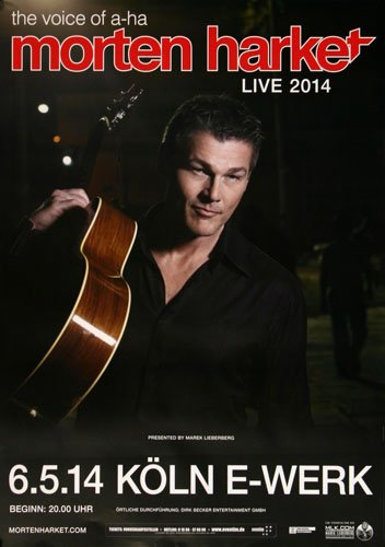 Morten Harket ( a-ha ) - Brother Köl 2014 - Concert Poster Plakat