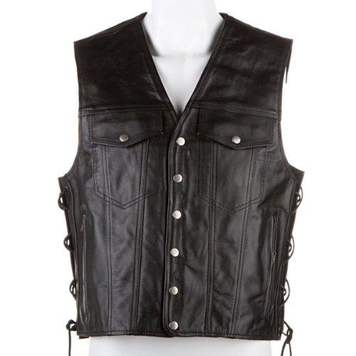 River Road Frontier Leather Vest - 2X-Large/Black