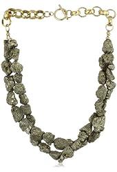 """Devon Leigh """"Statement Necklaces"""" Raw Pyrite Twist Necklace"""