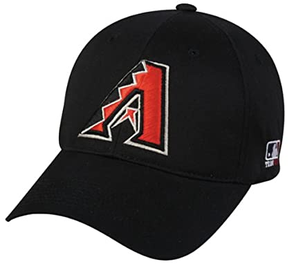 Arizona Diamondbacks (Black) ADULT Adjustable Hat MLB Officially Licensed Major League Baseball Replica Ball Cap