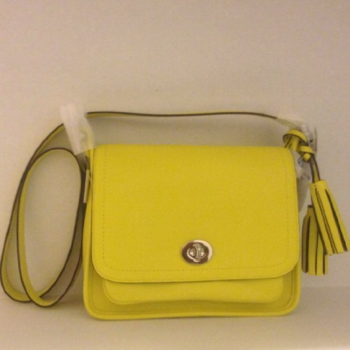ee0f45bd4d98 Coach Legacy Yellow Leather Archival Rambler Flap Convertible Crossbody Bag  21194 Bright Citrine