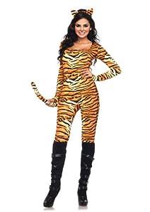 Leg Avenue Women's 2 Piece Wild Tigress, Orange/Black, X-Large