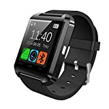 Teslasz U8 Bluetooth 4.0 Smart Wrist Wrap Watch Phone for IOS Android Smartphones (Black)