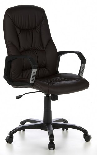 Executive chair brown leather office chair CROWN