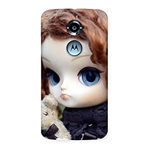 Enticing Teddy with Doll Back Case Cover for Moto X 2nd Gen