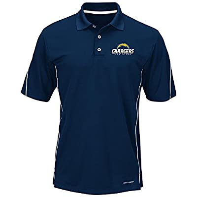 "San Diego Chargers Majestic ""Field Classic"" Men's Cool Base Polo Shirt - Navy"