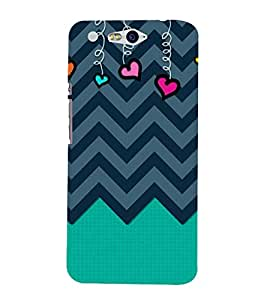Wired Love Chevron 3D Hard Polycarbonate Designer Back Case Cover for In Focus M812 :: InFocus M 812