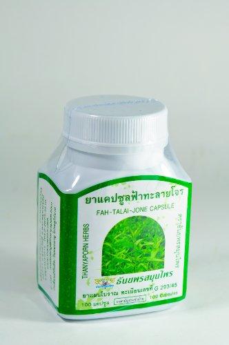 Paniculata 100 Capsule (Fah Talai Jone) Immune System Booster