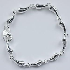 Beautiful 925 Womens Jewelry solid silver Style Drop Bracelet