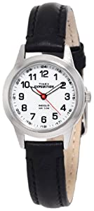 Timex Women's T49872 Expedition Metal Field Mini Black Leather Strap Watch