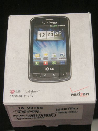 Brand New Verizon Lg Enlighten Black 3Mp Qwerty Touch Wi-Fi Phone (Without Contract Phone)