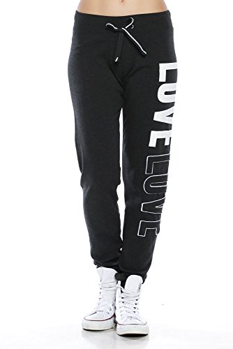 A.S Juniors Trendy 2-Tone Terrry Webbing Jogger Pants (Medium, Love Charcoal) (Terry Price Ware compare prices)