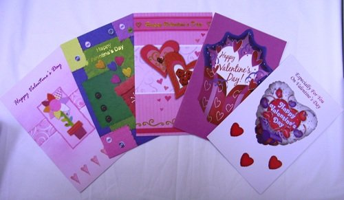 Assorted Valentine Greeting Cards 30 Pack
