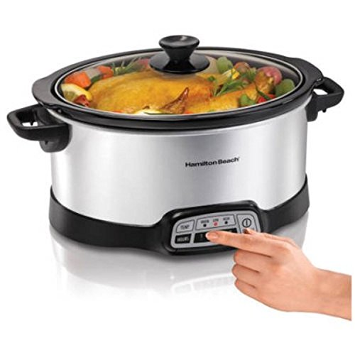 Programmable 5-Quart Slow Cooker Stainless Steel (Aroma Rice Cooker Crock Pot compare prices)