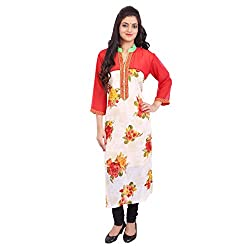 Radhya Women's Unstiched Kurti (Pan15_Multi Color)
