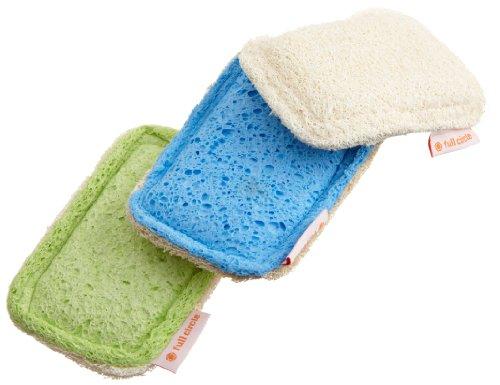 Full Circle Flip Loofah Scrubber Sponge, Non-Scratch, 3-Pack Assorted Colors
