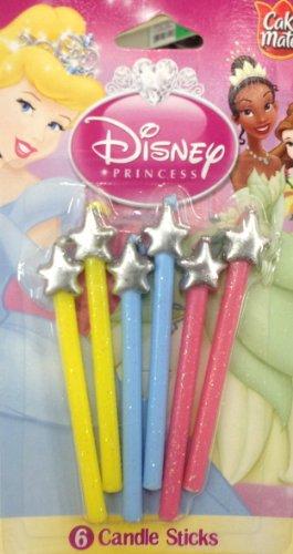 Betty Crocker - Disney PRINCESS Candle Sticks - 6 Pieces - 1