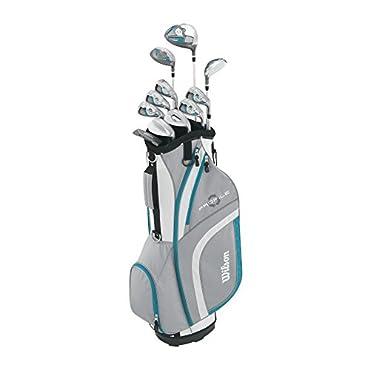 Wilson Women's Profile XLS Complete Package Golf Set, Left Hand, Teal, Standard