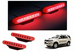 Speedwav RED 8LED Multi Pattern Strobe Lights Set Of 2-Toyota Fortuner Old