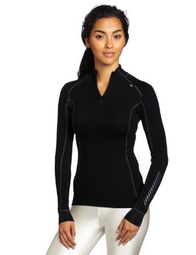 Helly Hansen W Hh Warm Freeze 1/2 Zip Maglieria sportiva Donna - Nero (Black/Black Cuffs) - L