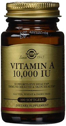 Solgar vitamine A 10,000 IU Softgels, comte 100