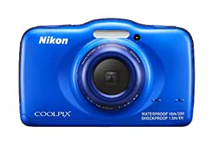 Nikon COOLPIX S32 13.2 MP Waterproof Digital Camera with Full HD 1080p Video (Blue) (Discontinued by Manufacturer)