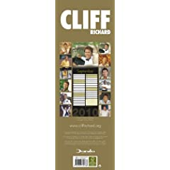 Official Cliff Richard 2010 Slim Calendar