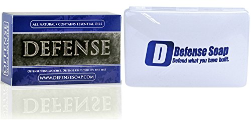 Defense Soap Antifungal 4 Ounce Bar With Soap Holder Dish - 100% Natural and Herbal Antibacterial Tea Tree Oil and Eucalyptus Oil Helps Wash Away Ringworm, Jock Itch, Dry Skin, Dandruff (Cucina Ginger Spray compare prices)