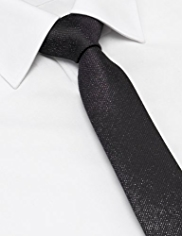 Limited Collection Textured Glitter Skinny Tie