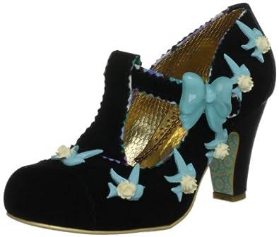 Irregular Choice Women's Fresh Cut Grass Black T Straps Heels 3912-9L 6 UK