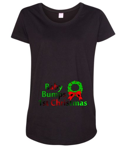 Baby Bumps 1st Christmas Women's Maternity T-Shirt