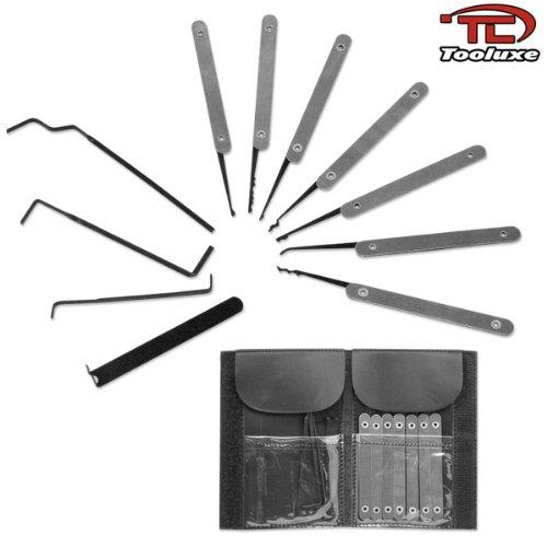 Professional 11pc Lock Pick Set Locksmith Key Extractor Tool Set
