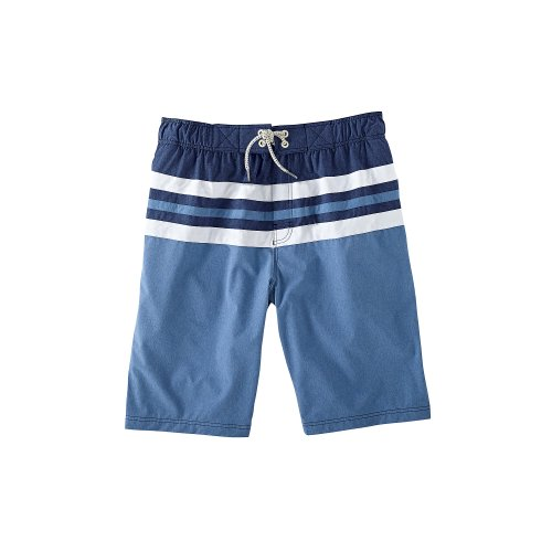 Coolibar Upf 50+ Boy'S Beach Boardshort (Xs 4-5 - Blue Chambray)