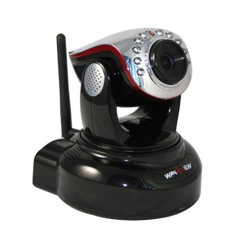 iClever® Wansview Überwachungskamera NCH-536MW steuerbare Pan Tilt WLAN ip cam IP Kamera,H.264 Mega Pixel HD/Night Vision/2 Way Audio.Für MAC / Windows / Linux / Android und IPhone! Deutsche teschnische Hotline!