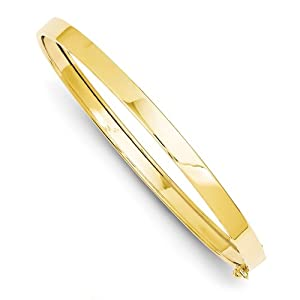 14k Gold Flexible Bangle Bracelet