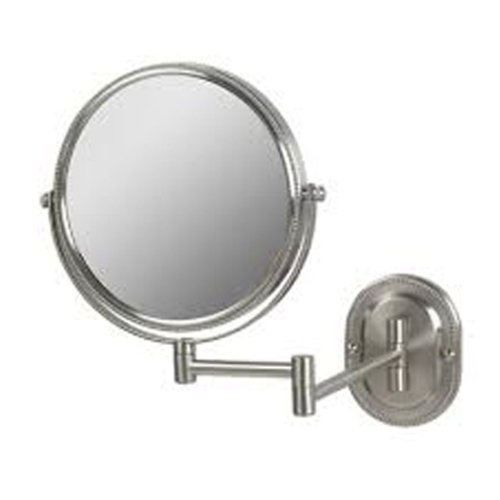See All Jnsa897 Non-Lighted 8-Inch Diameter Wall Mounted Make Up Mirror 7X, Nickel front-238870