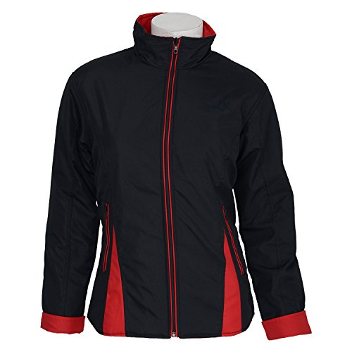 Red Coastal Tree Women's Micro Polyester Bonded Black\/Red Jacket (Multicolor)