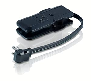 Philips SPS2100WA 3-Outlet Travel Power Strip (Black)