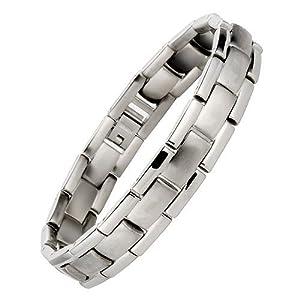 Willis Judd Mens Titanium Bracelet In Black Velvet Gift Box + Free Link Removal Tool