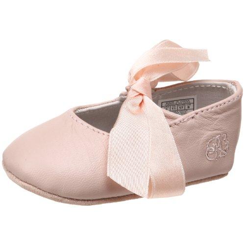 Ralph Lauren Layette Briley Ballet Crib Shoe (Infant/Toddler),Pink Lambskin,2 M US Infant