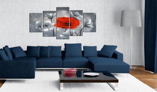 impression sur toile 200 100 cm grand format xxl 5 parties image sur toile images. Black Bedroom Furniture Sets. Home Design Ideas